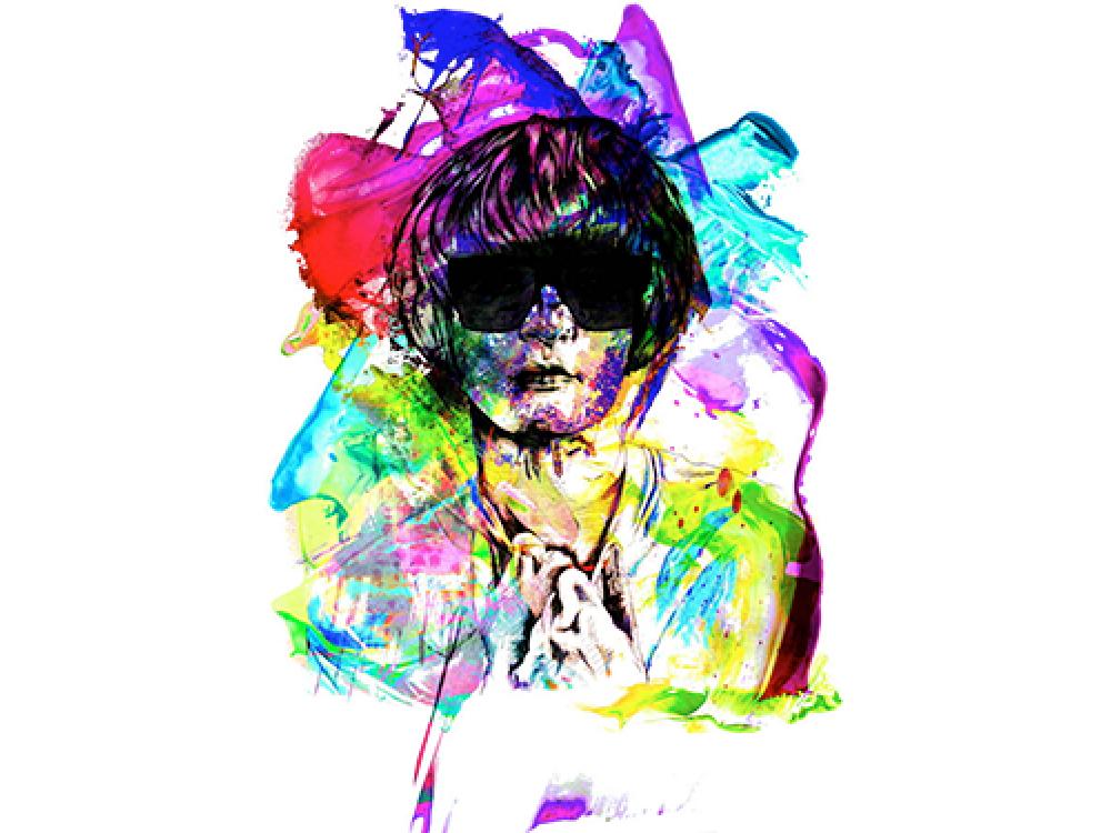 """""""Человек в красках"""" Изображение для нанесения на одежду № 0979"""