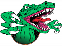 """""""Динозавр с когтями"""" Изображение для нанесения на одежду № 0980"""