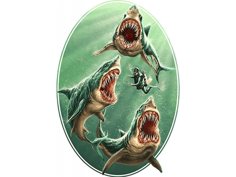 """""""Акулы"""" Изображение для нанесения на одежду № 0981"""