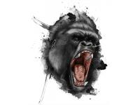 """""""Голова шимпанзе"""" Изображение для нанесения на одежду № 0991"""