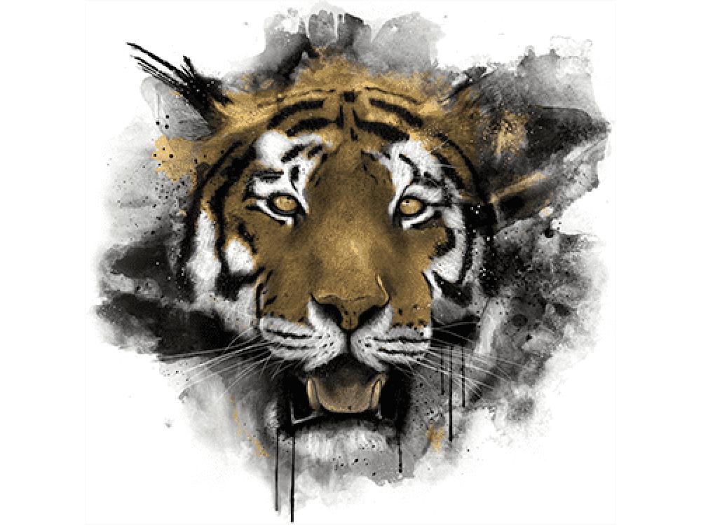 """""""Голова Тигра"""" Изображение для нанесения на одежду № 0994"""