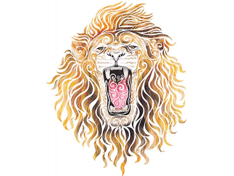 """""""Винтажная голова льва"""" Изображение для нанесения на одежду № 1002"""