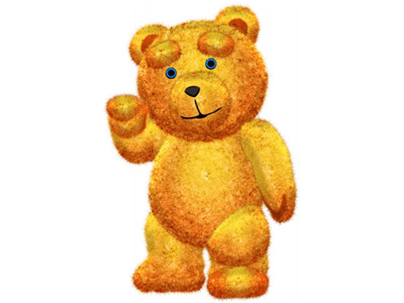 """""""Медведь плюшевый"""" Изображение для нанесения на одежду № 1009"""