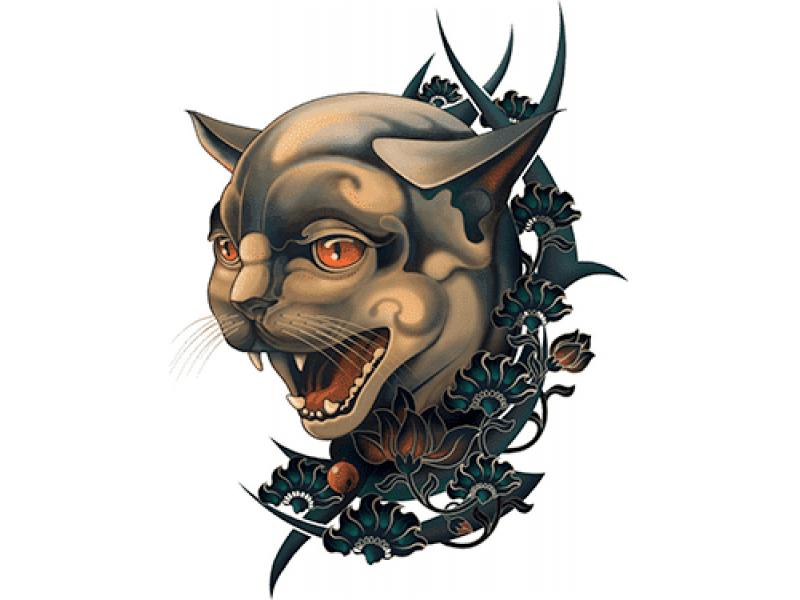 """""""Голова сиамского кота"""" Изображение для нанесения на одежду № 1010"""