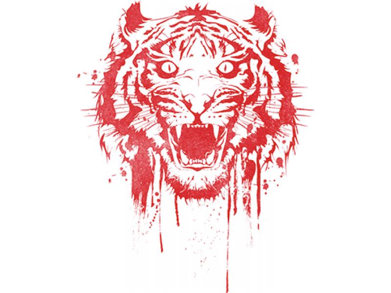 """""""Кровавая голова льва"""" Изображение для нанесения на одежду № 1019"""