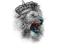 """""""Лев с короной"""" Изображение для нанесения на одежду № 1022"""