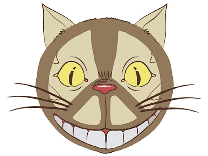 """""""Кот из мультика лицо"""" Изображение для нанесения на одежду № 1030"""