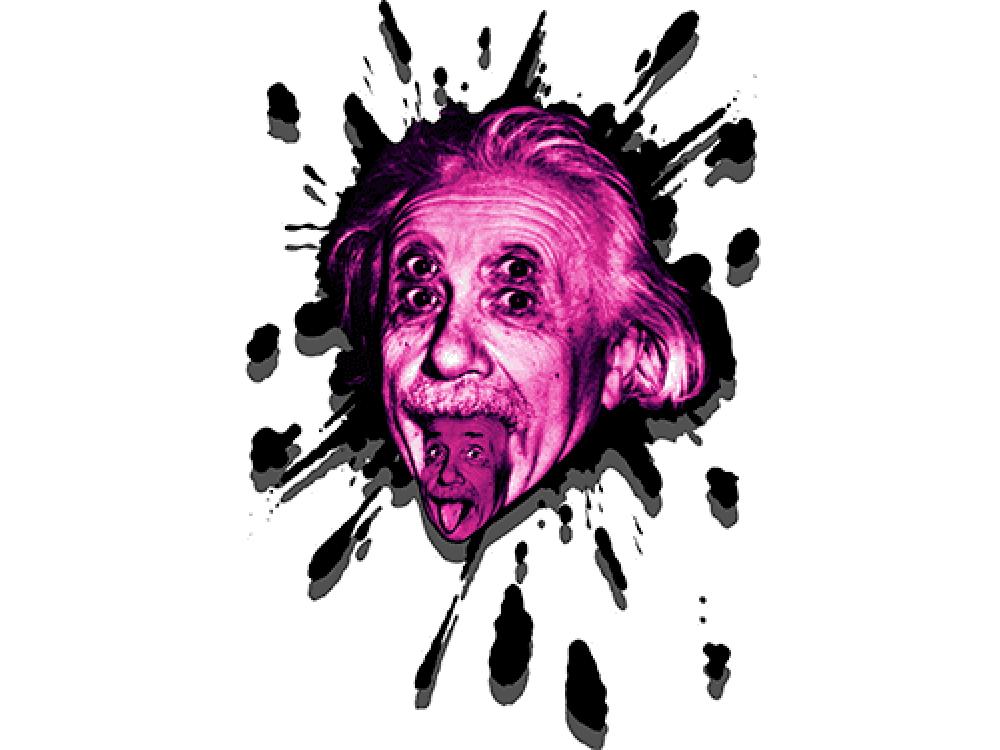 """""""Энштейн"""" Изображение для нанесения на одежду № 1041"""