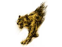 """""""Леопард в движении"""" Изображение для нанесения на одежду № 1042"""