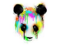 """""""Панда в цвете"""" Изображение для нанесения на одежду № 1052"""