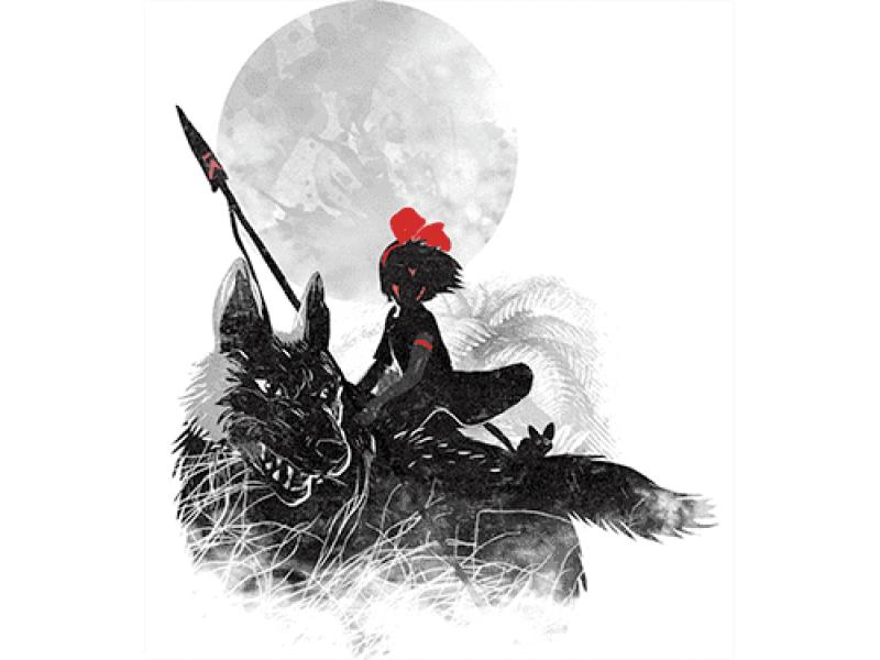"""""""Индеец на волке"""" Изображение для нанесения на одежду № 1080"""