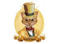"""""""Кот в шляпе"""" Изображение для нанесения на одежду № 1087"""