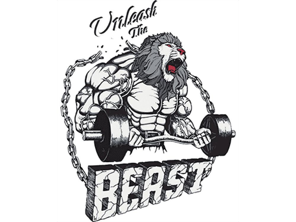"""""""BEAST"""" Изображение для нанесения на одежду № 1090"""