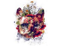 """""""Цветы в форме собаки"""" Изображение для нанесения на одежду № 1100"""