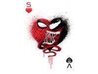 """""""Человек паук в сердце"""" Изображение для нанесения на одежду № 1141"""