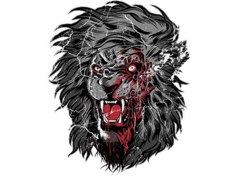 """""""Лев """" Изображение для нанесения на одежду № 1145"""