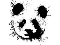 """""""Панда в ретуше"""" Изображение для нанесения на одежду № 1164"""