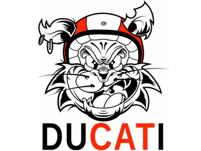 """""""DUCATI"""" Изображение для нанесения на одежду № 1174"""