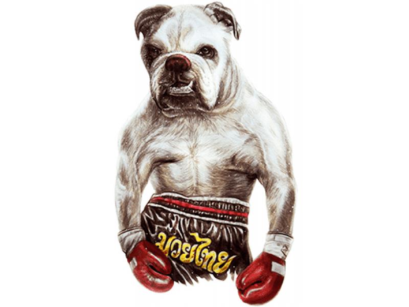 """""""Борбос боксер"""" Изображение для нанесения на одежду № 1188"""