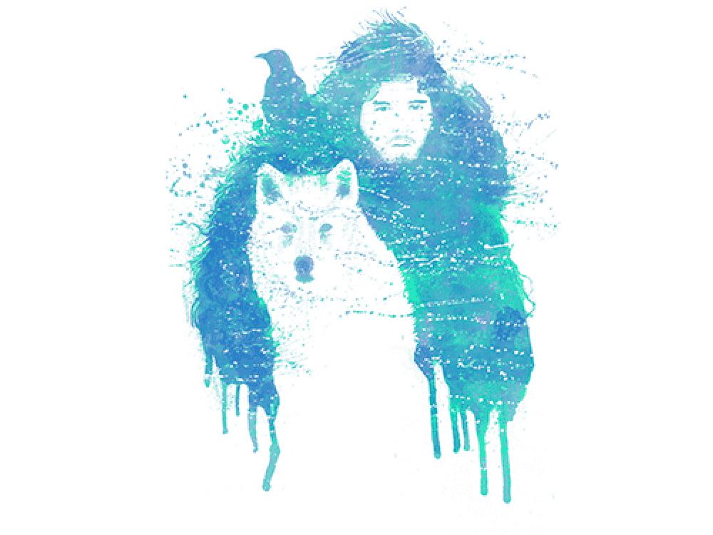 """""""Человек на волке"""" Изображение для нанесения на одежду № 1216"""