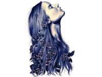 """""""Девушка с локонами"""" Изображение для нанесения на одежду № 1242"""