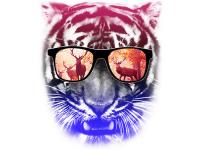 """""""Тигр ретушь в цвете"""" Изображение для нанесения на одежду № 1245"""