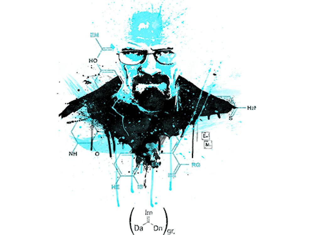 """""""Химия"""" Изображение для нанесения на одежду № 1252"""