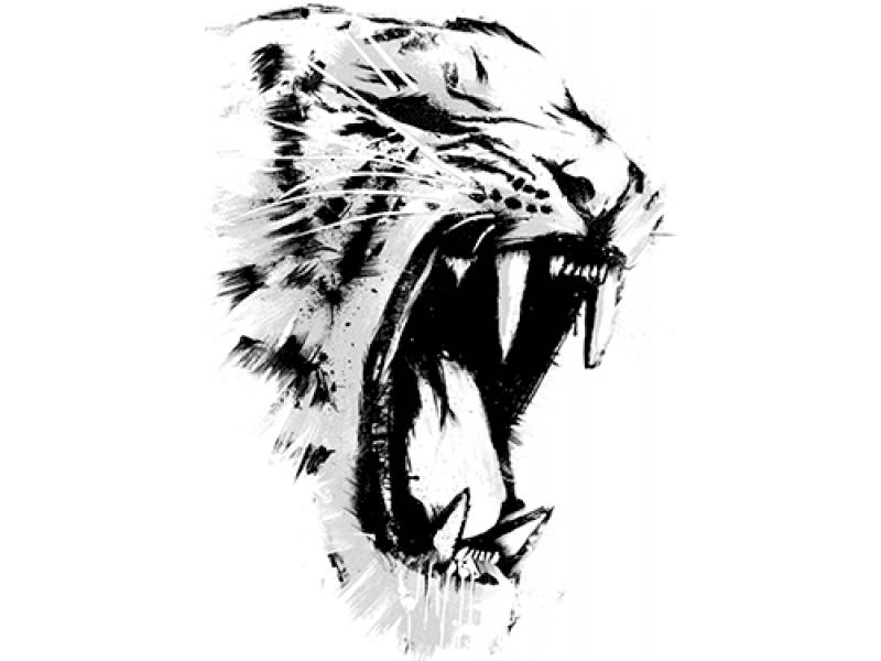 """""""Тигр злой"""" Изображение для нанесения на одежду № 1256"""