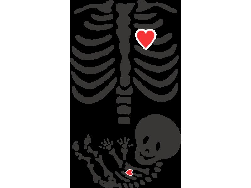 """""""Рентген"""" Изображение для нанесения на одежду № 1558"""