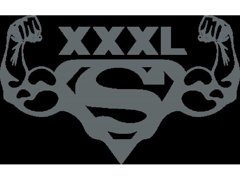 """""""XXXL Super"""" Изображение для нанесения на одежду № 1637"""