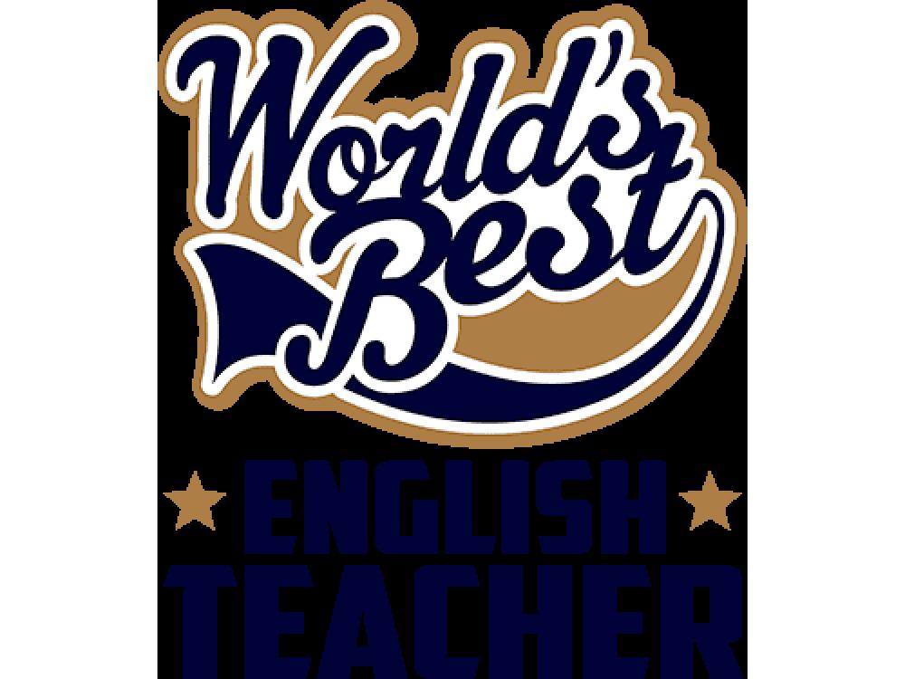 """""""World's Best English Teacher"""" Изображение для нанесения на одежду № 1654"""