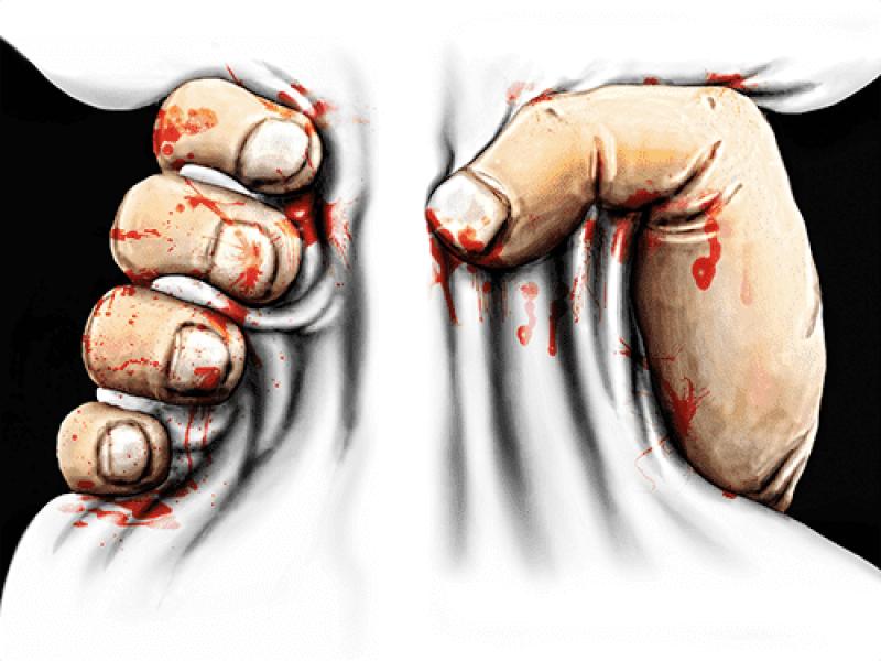 """""""Руки в обхвате"""" Изображение для нанесения на одежду № 1779-2"""