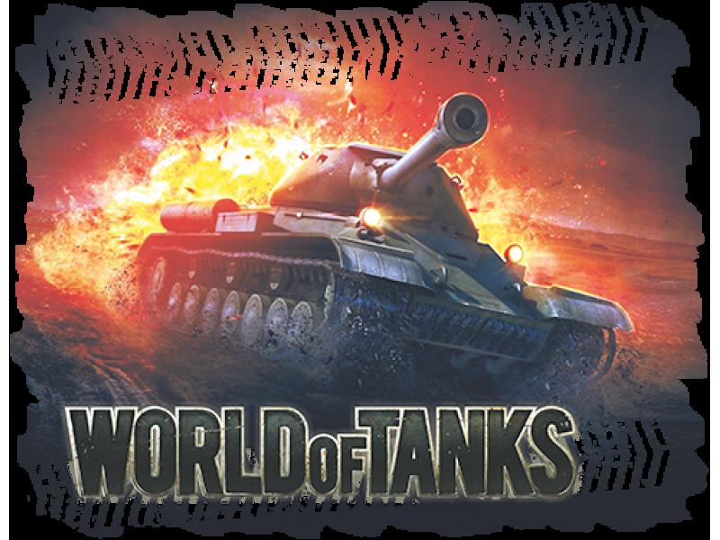 """""""World of Tanks красный"""" Изображение для нанесения на одежду № 1444"""