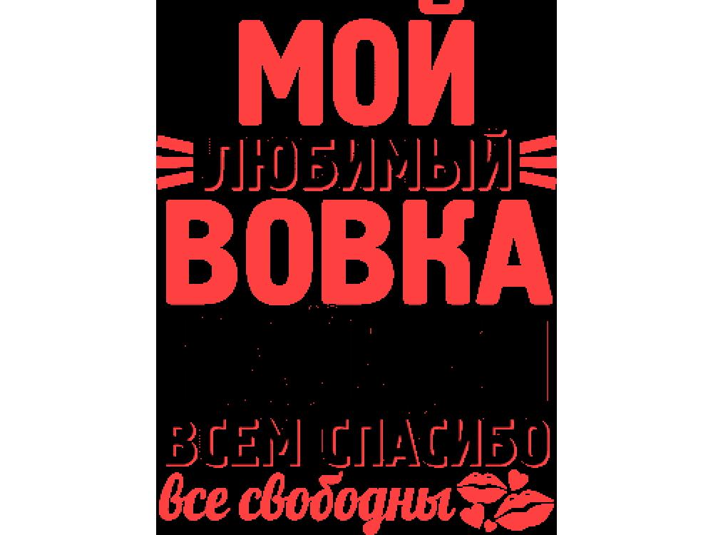 """""""Мой любимый Вовка"""" Изображение для нанесения на одежду № 1497"""