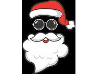 """""""Дед мороз в очках"""" Изображение для нанесения на одежду № 1897"""