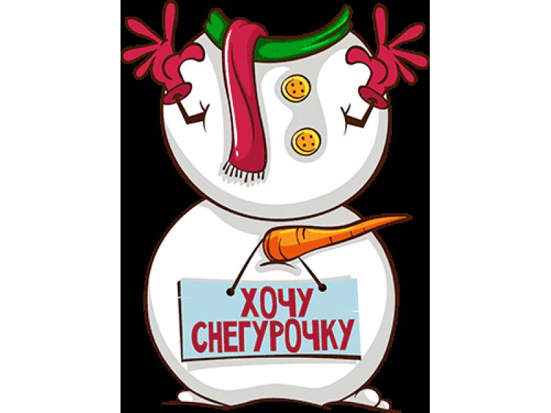 """""""Хочу снегурочку тело снеговика"""" Изображение для нанесения на одежду № 1935"""