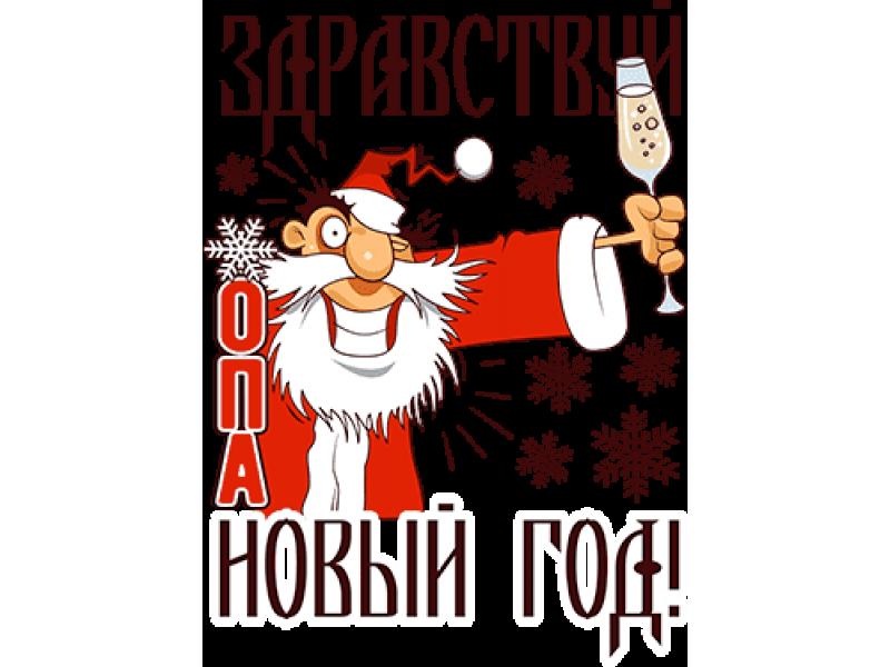 """""""Здравствуй опа новый год"""" Изображение для нанесения на одежду № 2007"""