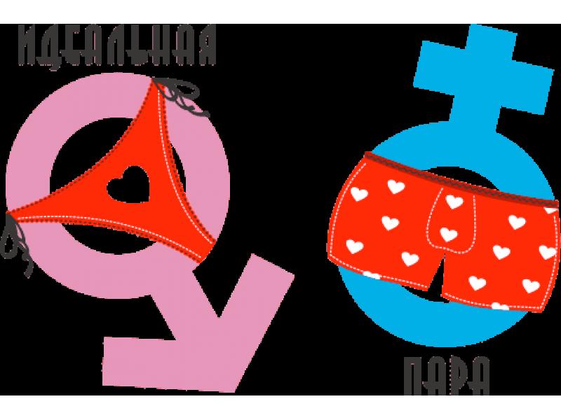 """""""Идеальная пара"""" Изображение для нанесения на одежду № 1802"""