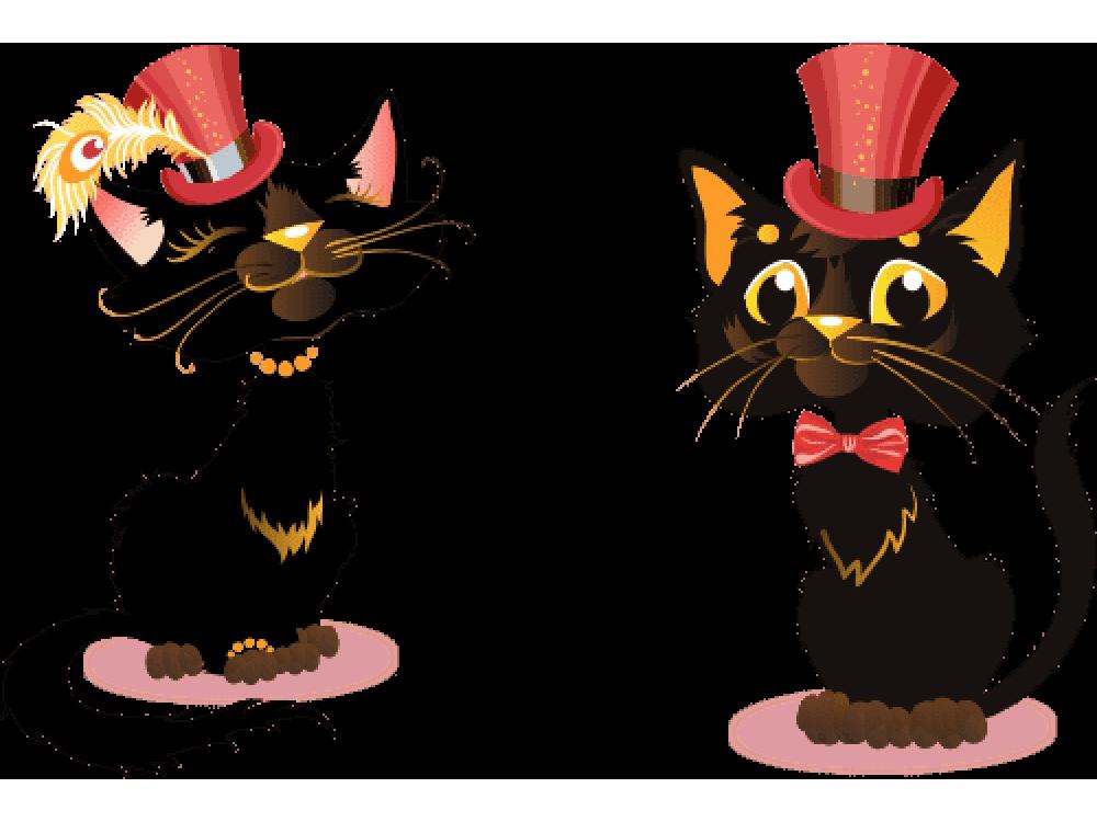 """""""Котики в шляпе"""" Изображение для нанесения на одежду № 1812"""