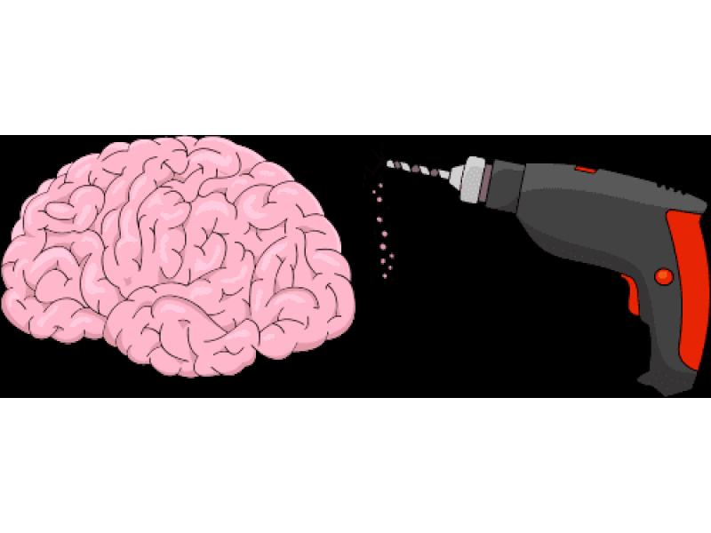 """""""Мозг и дрель"""" Изображение для нанесения на одежду № 1838"""