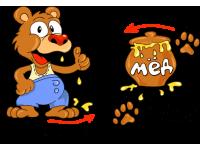 """""""Медведь и мед"""" Изображение для нанесения на одежду № 1839"""