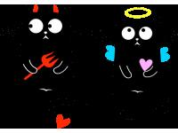 """""""Коты чертята"""" Изображение для нанесения на одежду № 1847"""