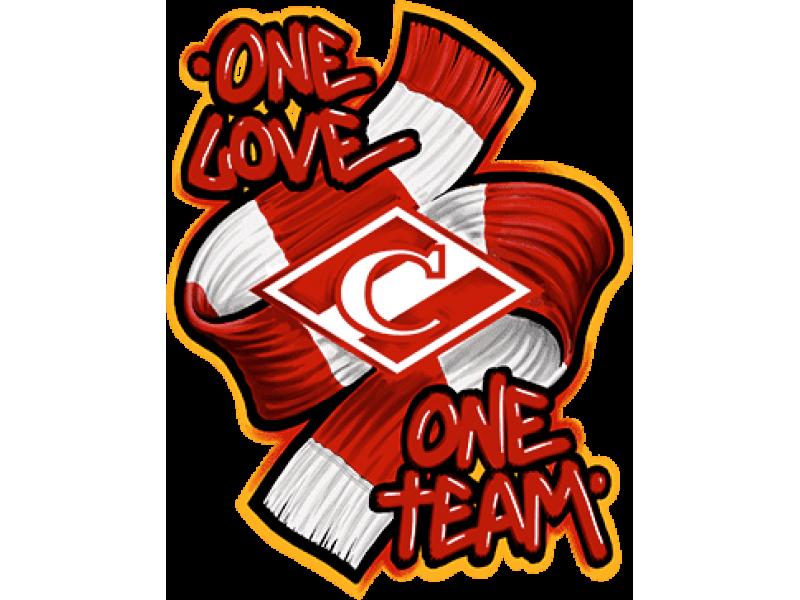 """""""ONE LOVE"""" Изображение для нанесения на одежду № 0040"""