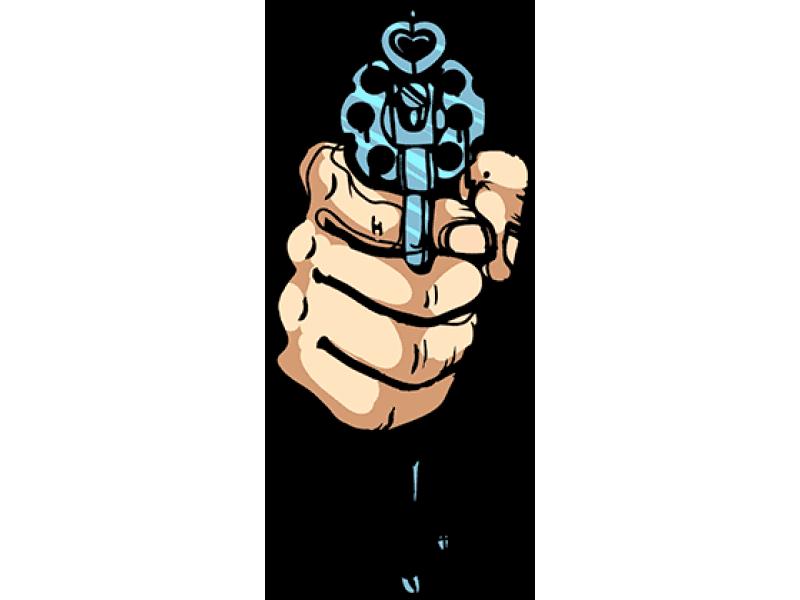 """""""Пистолет"""" Изображение для нанесения на одежду № 0153"""