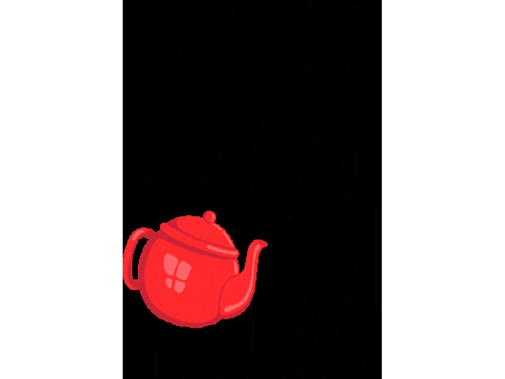 """""""Кексы в миске чай индийский"""" Изображение для нанесения на одежду № 0163"""