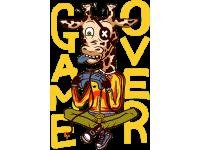 """""""GAMEOVER"""" Изображение для нанесения на одежду № 0169"""