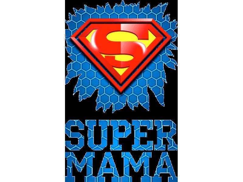 """""""SUPER мама"""" Изображение для нанесения на одежду № 0181"""