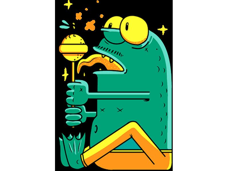 """Лягушка чупа чупс"" Изображение для нанесения на одежду № 0199"