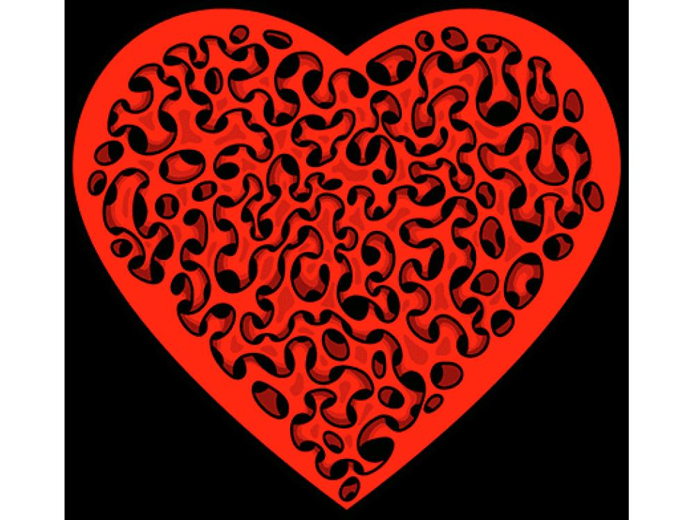 """""""Сердце"""" Изображение для нанесения на одежду № 0225"""
