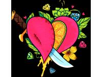 """""""Сердце и кинжал"""" Изображение для нанесения на одежду № 0249"""